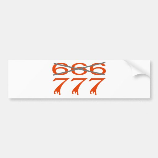 777 contre 666 car bumper sticker