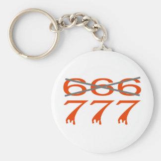 777 contre 666 llavero redondo tipo pin