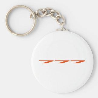 777 fin rouge fond blanc keychain