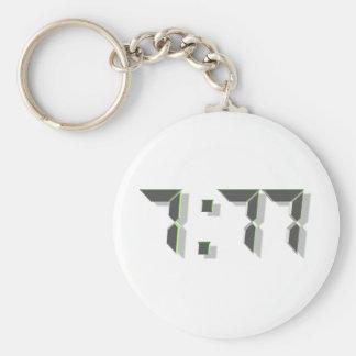 777 Green 3D Keychain