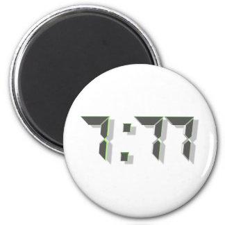 777 Green 3D Magnet