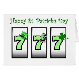 777 Happy St. Patrick's Day Las Vegas Card