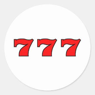 777 ROUND STICKER