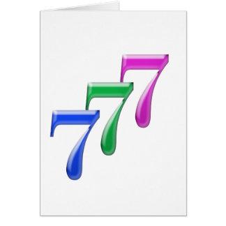 777 TARJETA DE FELICITACIÓN