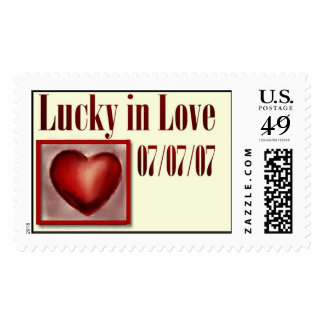777 wedding stamps for your 07/07/07 wedding date