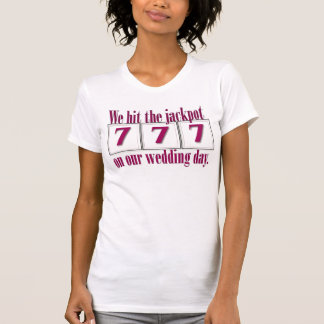 777 Wedding T- Shirt - perfect for the July 7, 200