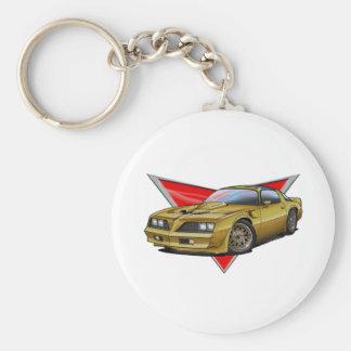 77-78 oro Firebird Llavero Redondo Tipo Pin