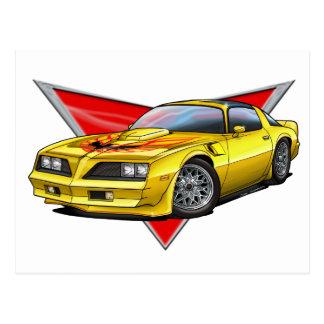 77-78 Yellow Firebird TA Post Cards