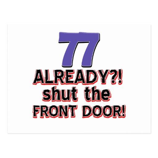 77 already shut the front door postcard zazzle for 1 2 shut the door
