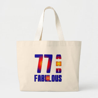 77 And Fabulous Canvas Bag