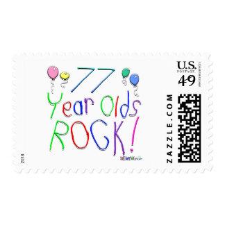 ¡77 años de la roca! timbre postal