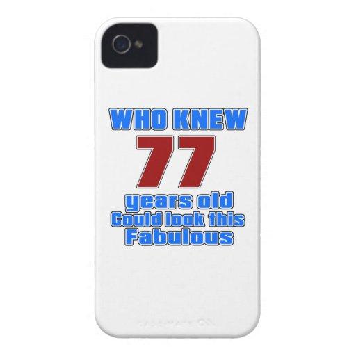 77 Birthday designs iPhone 4 Case