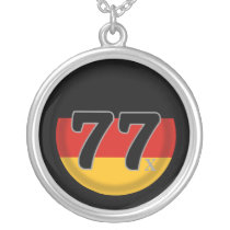 77 Deutschland Generation X Silver Plated Necklace