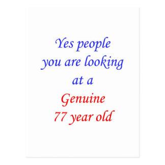 77  Genuine 77 Year Old Postcard