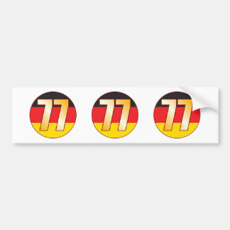 77 GERMANY Gold Bumper Sticker