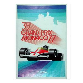 77 monoco grand prix postcard