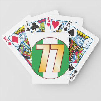 77 NIGERIA Gold Bicycle Playing Cards
