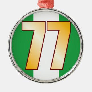 77 NIGERIA Gold Metal Ornament