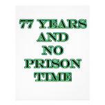 77 ninguna hora de prisión plantilla de membrete