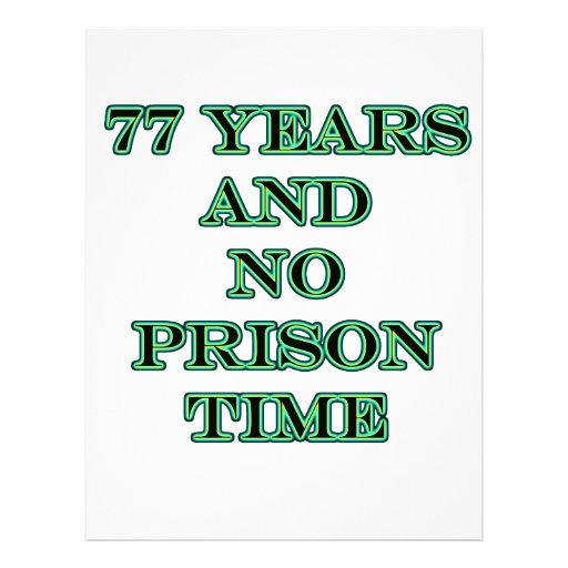 77 No prison time Letterhead Template