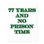 77 No prison time Postcard