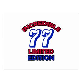 77.o Diseño del cumpleaños Tarjeta Postal