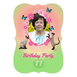 77.o Invitación de la fiesta de cumpleaños