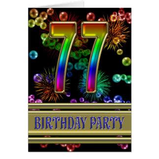 77.o Invitación de la fiesta de cumpleaños Felicitaciones