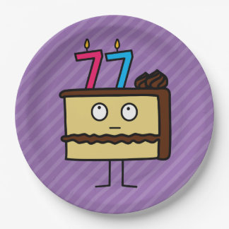 77.o Torta de cumpleaños con las velas Platos De Papel