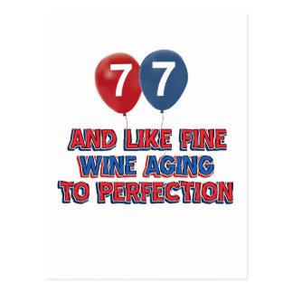 77.os diseños años del cumpleaños postal