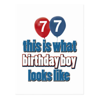 77.os diseños del cumpleaños del año postal