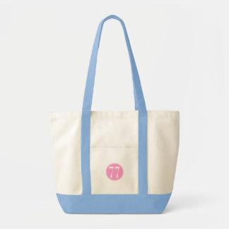 #77 Pink Circle Canvas Bags