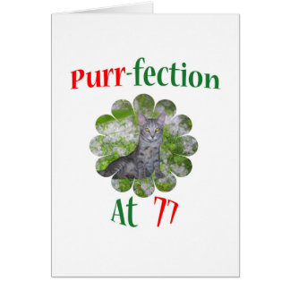 77 Purr-fection Card