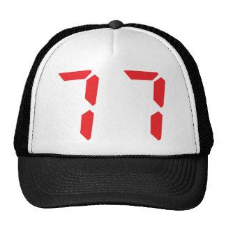 77 setenta y siete números digitales del despertad gorras
