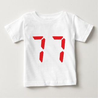 77 seventy-seven red alarm clock digital number baby T-Shirt