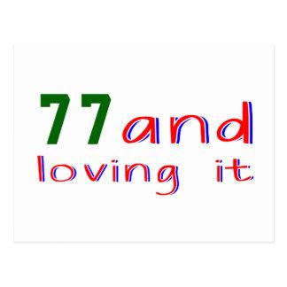 77 y amor de lo tarjeta postal