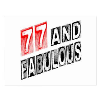 77 y fabuloso tarjeta postal