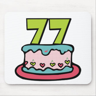 77 Year Old Birthday Cake Mouse Pad