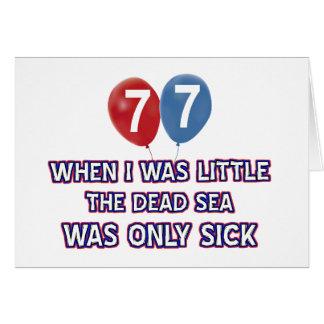 77 year old dead sea birthday designs card