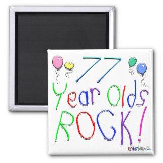 77 Year Olds Rock ! Refrigerator Magnet