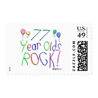 77 Year Olds Rock ! Stamp