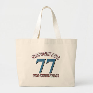 77 years Old birthday designs Tote Bags