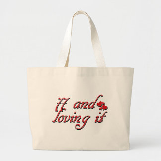 77 years Old birthday designs Canvas Bags