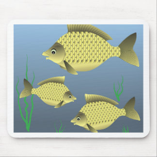77Fish_rasterized Mouse Pad