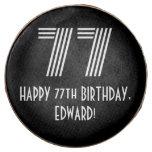 "[ Thumbnail: 77th Birthday - Art Deco Inspired Look ""77"", Name ]"