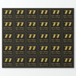 """[ Thumbnail: 77th Birthday – Art Deco Inspired Look """"77"""" & Name Wrapping Paper ]"""