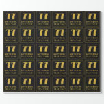 """[ Thumbnail: 77th Birthday ~ Art Deco Inspired Look """"77"""", Name Wrapping Paper ]"""
