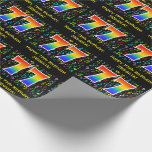 [ Thumbnail: 77th Birthday: Colorful Music Symbols, Rainbow 77 Wrapping Paper ]