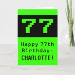 """[ Thumbnail: 77th Birthday: Nerdy / Geeky Style """"77"""" and Name Card ]"""