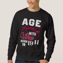 77th Birthday T-Shirt For Wine Lover.
